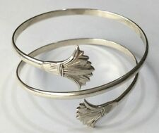 Egyptian Revival Sterling Silver Arm Bangle