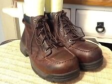 "MENS CAROLINA 6"" E/H SAFETY TOE WORK BOOTS SZ 9D"