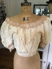 Rare Victorian Late 1800's 4 Pc. Wedding Ensemble Collector Display Cutter Lace