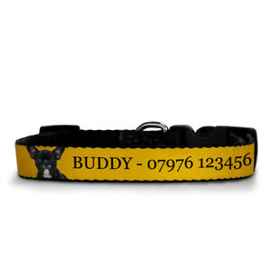 Personalised Dog Collar With Your Dog's Name & your Mobile Number