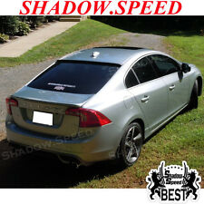 2010~15 Combo Painted OE Rear Trunk Spoiler + BRS Roof Wing For VOLVO S60 Sedan✪