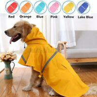 Waterproof g Raincoat Pet Clothes Hoodie Jacket Outdoor For Small Large