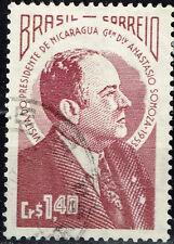 Brazil Nicaragua Dictator President Anastasio Somoza Visit stamp 1953