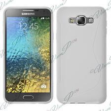Etui Coque Housse TPU Silicone Gel S-Line BLANC Samsung Galaxy E7 SM-E700 E7000