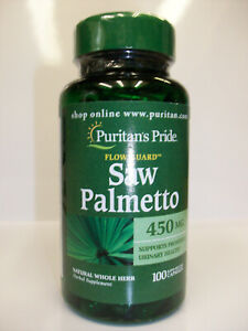 Saw Palmetto 450 mg 100 Capsules Flow Guard  Supports Prostate & Urinary Health