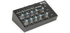 QTX LM82 8ch Stereo Mini Mixer Line Level Studio Karaoke DJ Recording