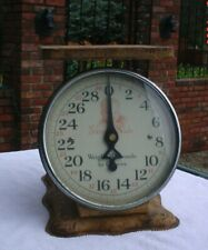 Antique Baby Nurse Scale Old Patina 30 Lbs with Glass Face Accurate