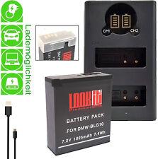 LCD Duallader + 1x BLG10 für Panasonic Lumix GX9 TZ202 TZ91 LX100 II GX80 TZ96
