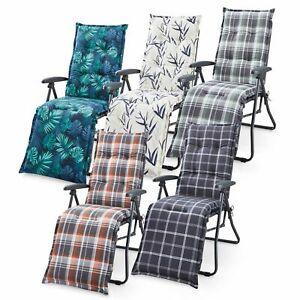 Relaxliege Auflage Sun Garden Polsterauflage Stuhlauflage 5 Designs Relaxsessel