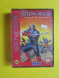 Sega Genesis Spiel Shinobi III 3 mit Spielanleitung OVP Original