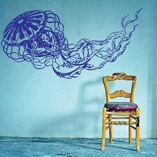 Wall Decal Vinyl Sticker Jellyfish Octopus Tentacles Deep Sea Ocean r471