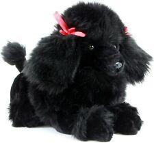 Poodle Black Plush Stuffed Toy Dog 30cm ROMEO by Bocchetta