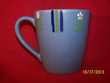 "Studio Nova ~ Flora Blue ~ Large Handled Mug 4"" Tall"