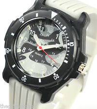 Ravel Older Boys, Youths Big Grey Camouflage Dial Watch, Trendy Silicone Strap