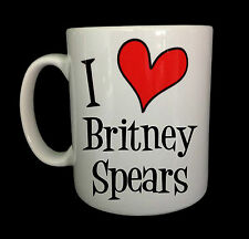 NEW I LOVE HEART BRITNEY SPEARS MUG GIFT CUP PRESENT MUSIC ALBUM