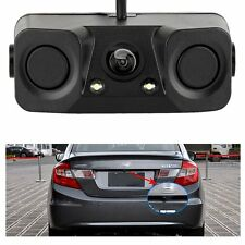 3in1 Car Parking Reversing Radar Sensors Rear View Backup 170° Camera Universal