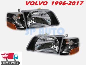 VOLVO VN VNL 300 Daycab Truck 1998-2017 HEADLIGHTS SIGNAL CORNER LIGHTS - BLACK