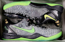 NIKE Kobe 8 System SS sz 14 Christmas Edition Black Electric Green Gold Grinch
