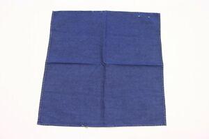 NWD Brunello Cucinelli Men's 100% Cotton Denim Pocket Square  A176