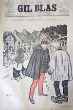 Journal Gil Blas No No 12 of 1894 Wells Verlaine Drawing Steinlein Music Bunting