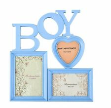 Arpan Baby Boy Blue Multi Aperture Photo Picture Frame - Holds 3 Photos CL-9622