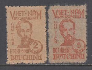 Viet Nam Democratic Republic Sc 1L62-1L63 MNH. 1948 Ho Chi Minh, Viet Minh, VF