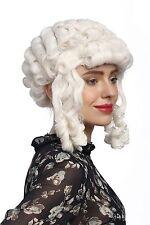 Perruque Carnaval Baroque Blanc Boucles Reine Marie Antoinette Pompadour