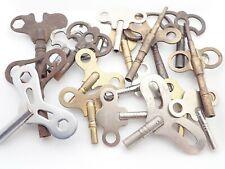 Lot Of 20 Antique Mantel Shelf Wall Clock Winding Keys