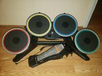 Nintendo Wii Rockband Harmonix Drum Set NWDMS2 - No Dongle, Sticks, Legs