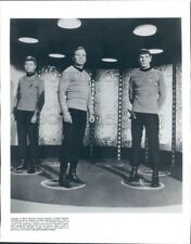 1994 Press Photo William Shatner Leonard Nimoy DeForest Kelly Star Trek