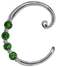 Chrome Diopside C Diopside Letter Pendant Sterling Silver + Chain