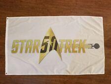 STAR TREK FLAG BANNER 3X5FT CAPTAIN KIRK USS ENTERPRISE THE ORIGINAL SERIES