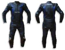 Tuta per moto da pista in pelle divisibile 2 pezzi 46 48 50 52 56 58 blu Yamaha