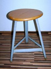 Old Swivel Workshop Stools, Designer Stool, Wood Vintage Bar Stool, Chair