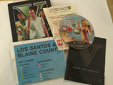 PLAYSTATION 3 PS3 STEELBOOK GTA GRAND THEFT AUTO V GTA 5 +BOX INSTRUCTIONS & MAP