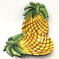 Pineapple Serving Bowls Ceramic by Clay Art Set of 2