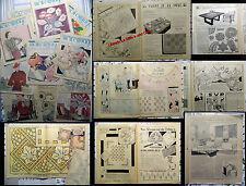 13 num. MON OUVRAGE tous les travaux de dames _1936_ tricot _ broderie _lingerie