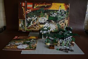 LEGO INDIANA JONES JUNGLE CUTTER 7626 - COMPLETE WITH BOX & INSTRUCTIONS