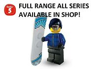 Lego minifigures snowboarder guy series 5 (8805) unopened new factory sealed