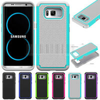 Hybrid Hard Armor Case Shockproof Impact Phone Cover For Samsung Galaxy S8 Plus