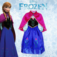 Frozen Princess Anna Elsa Girls Fancy Dress Costume Outfit Skirt Tutu Gift1