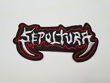 Quality Iron/Sew on Sepultura band Patch heavy metal music