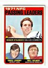 "1972 Topps #4 Roger Staubach ""Passing"" Leaders"" Dallas Cowboys NR/Mint"