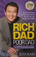 """ Rich Dad Poor Dad "" Mass Market 20th Edition Paperback"