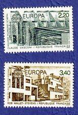 TIMBRES FRANCE 1987 EUROPA CLAUDE VASCONI et MALLET- STEVENS  NEUFS