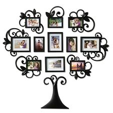 12-Pcs Scroll Tree Family Photo Picture Frame Collage Wall Art Home Decor Black