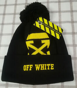 Off White Women Men Beanie Hat Unisex Packable Winter Cap