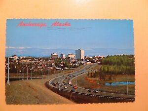 Anchorage Alaska vintage postcard aerial view