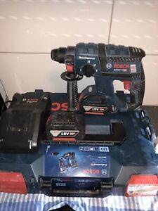 Bosch GBH 18 V-EC Professional Bohrhammer SDS plus 2x Akku 4,0 Ah mit Koffer