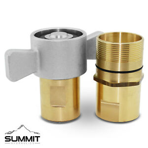 """1-1/4"""" NPT Wet-Line Wing Nut Hydraulic Quick Disconnect Coupler / Coupling Set"""